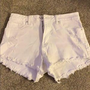 Pants - JUSTUSA white jean shorts size M